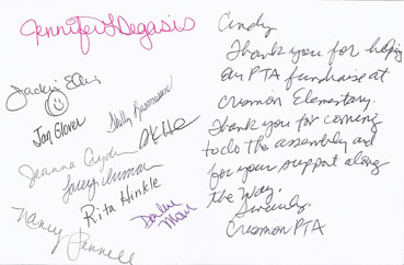 Thank You Card from Crismon Elementary