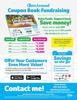 Coupon Book Sales